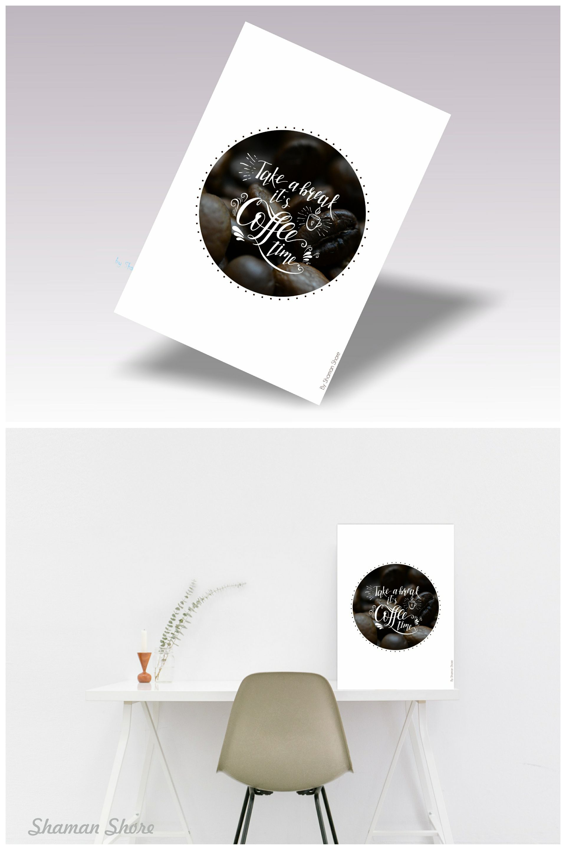 Office Décor Coffee Break Poster, Coffee Posters, Kitchen Wall ...