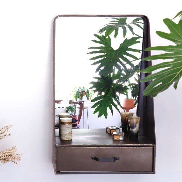 bronze storage mirror  holistic habitat  storage mirror