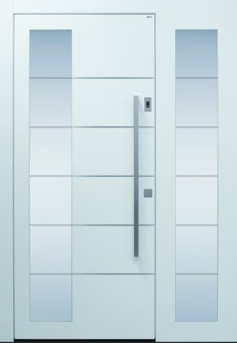 Haustür Modern Weiß Topiccore Sicherheitstür Passivhaustauglich