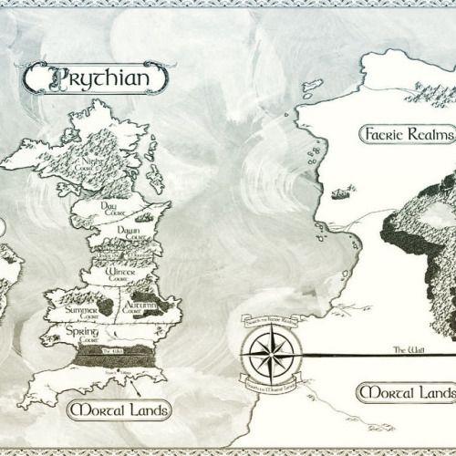 Prythian Map Sarah J Maas Books Map Sarah J