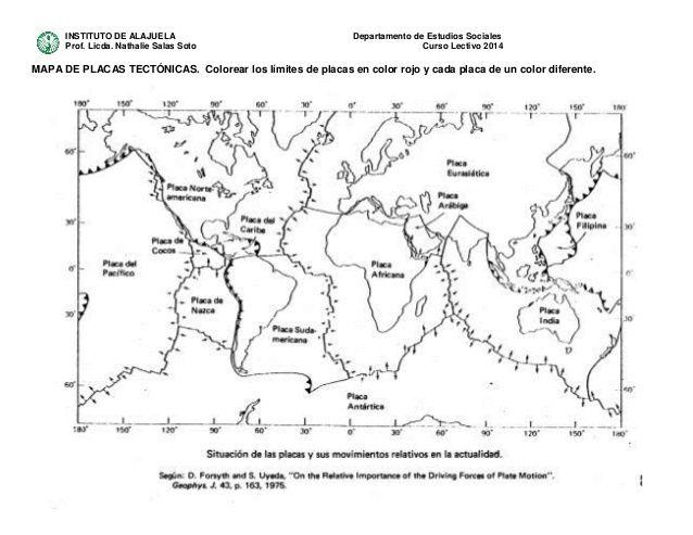 Resultado De Imagen Para Las Placas Tectonicas Guía