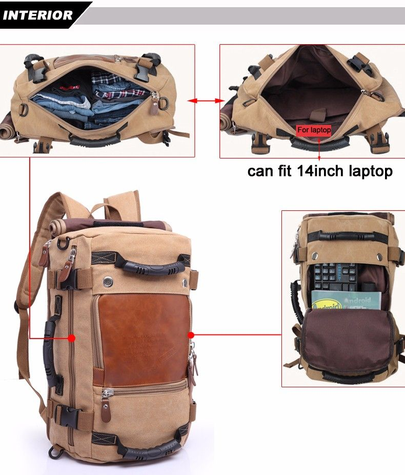 9de5f26d14b7 Brand Stylish Travel Large Capacity Backpack Male Luggage Shoulder Bag  Computer Backpacking Men Functional Versatile Bags