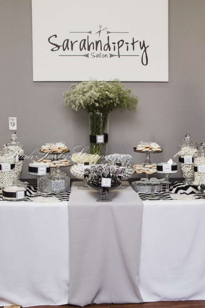Grey, Black, White U0026 Chevron Grand Opening Event Party Ideas | Photo 1 Of 17