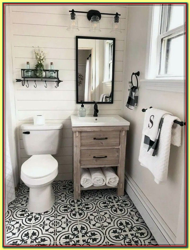 What To Pronounce Back Your Bathroom Restore Check Further At The Image Link In 2020 Small Farmhouse Bathroom Bathroom Design Small Small Bathroom Design