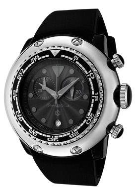Women S Miami Beach Chronograph Black Dial Silicon Glam Rock Quartz Watch