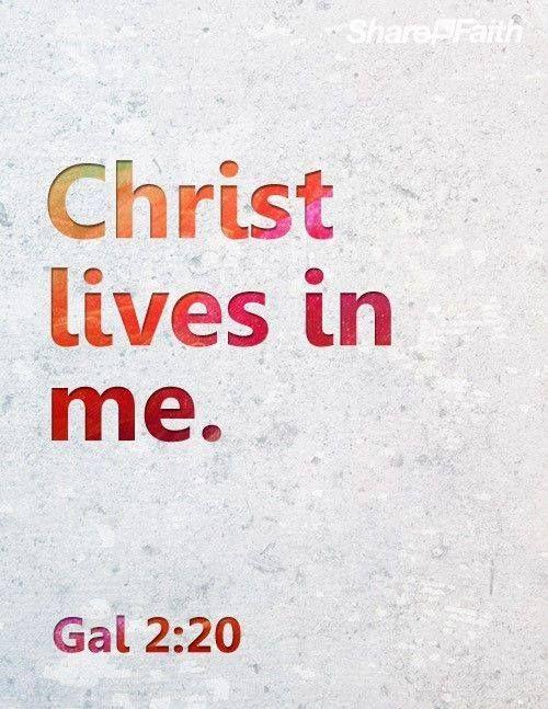 Fui Crucificado Com Cristo Assim Ja Nao Sou Eu Quem Vive Mas