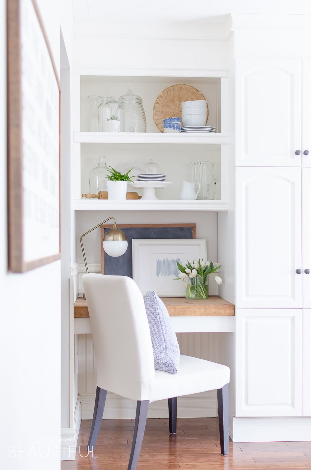 Get The Look A Bright And Airy Modern Farmhouse Kitchen Kitchen Office Nook Home Desk Nook