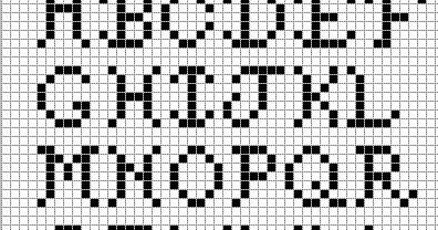 Alphabet Graph cross stitch letters alphabet on graph paper | buzy bobbins: fancy