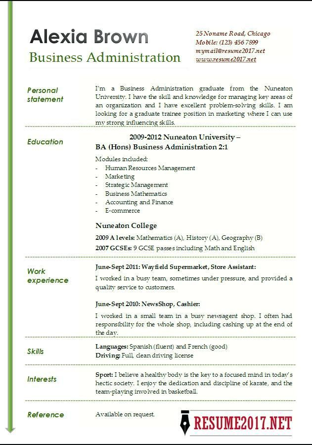 Resume Examples For Business Business Resume Templates Business Administration Resume Examples Business Resume Template Resume Examples Business Administration