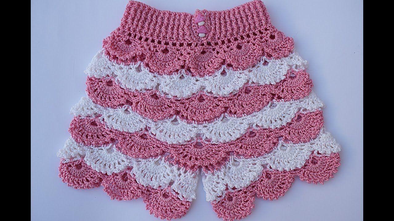 6bba1e993 Shorts a crochet para niña muy fácil y rápido - YouTube | shorts ...