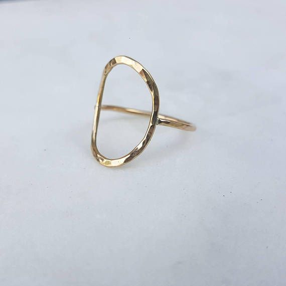 Simple circle ring / gold filled / sterling silver / unique / | Hank ...