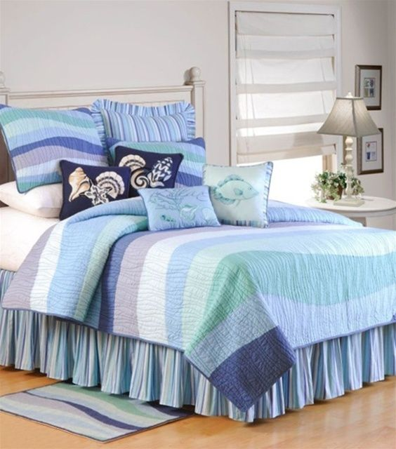 Ocean Wave Quilts Accessories C F Tropical Seashell Beach Bedding Duvets And Comforter Sets Paulshomefashions