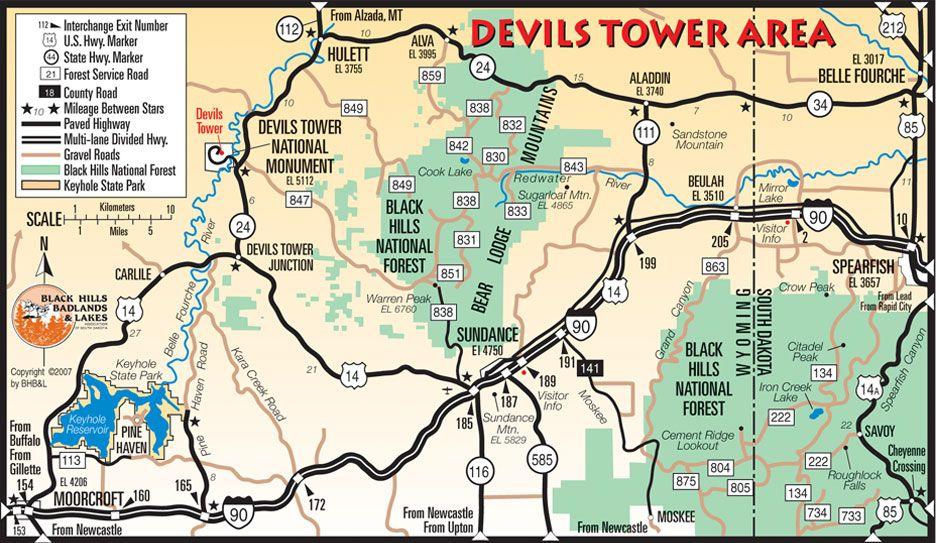 Black Hills Black Hills National Forest Travel Guide - Black hills national forest on us map