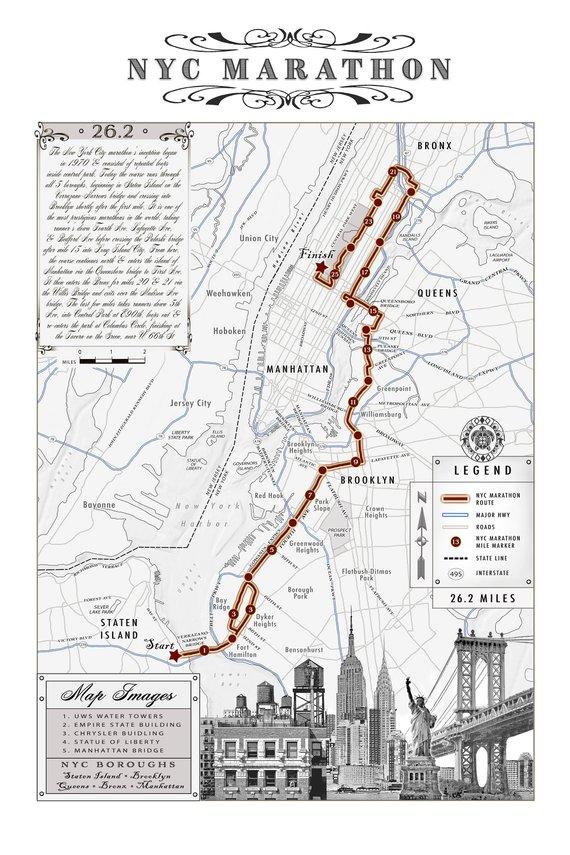 2019 Nyc Marathon 12x18 Black White Course Map Etsy In 2020 Nyc Marathon Nyc Marathon Map New York Marathon Route