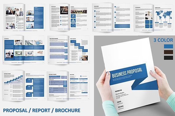 Business Proposal Template  Project Proposal   Color  Indesign