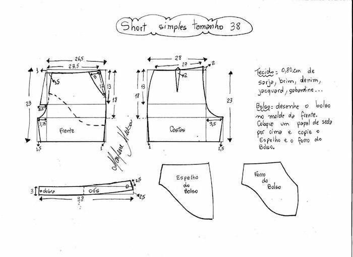 Patrones para hacer pantalón corto de verano.   moldes básicos ...