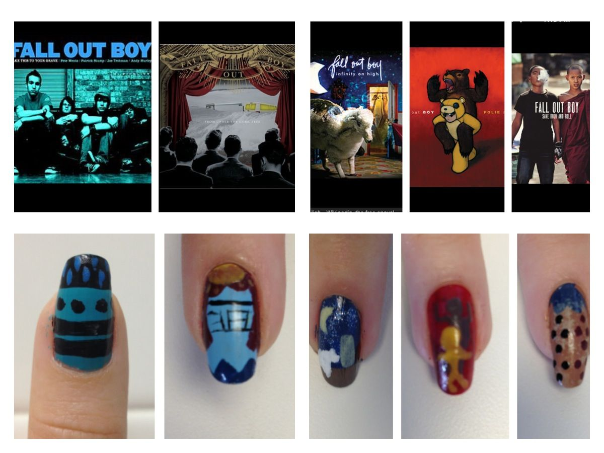 Fall Out Boy album nails | nailed it! | Pinterest