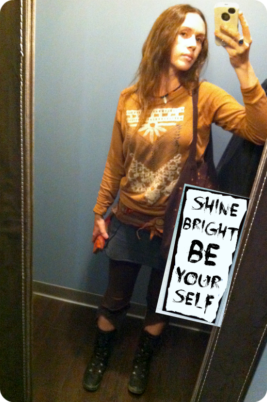 shine bright be yourself