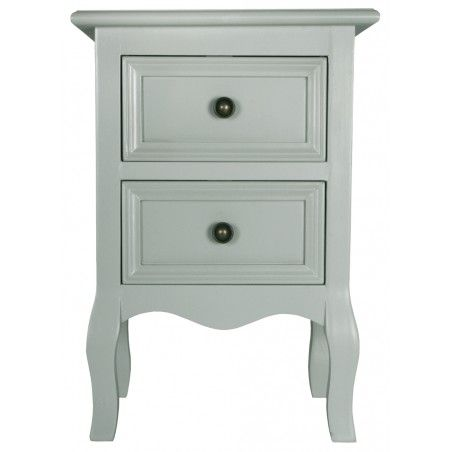 Best Small Traditional Bedside Table In French Grey 640 x 480