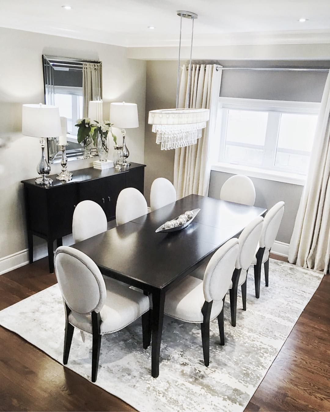 Neutral dining room, looking elegant and classy. . . . . #home