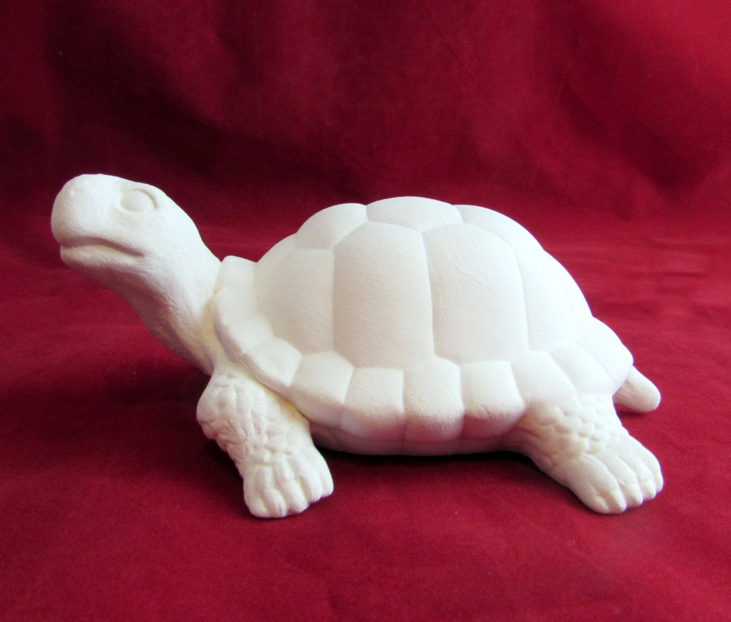 Crawling Turtle 7 ceramic bisque ready to paint