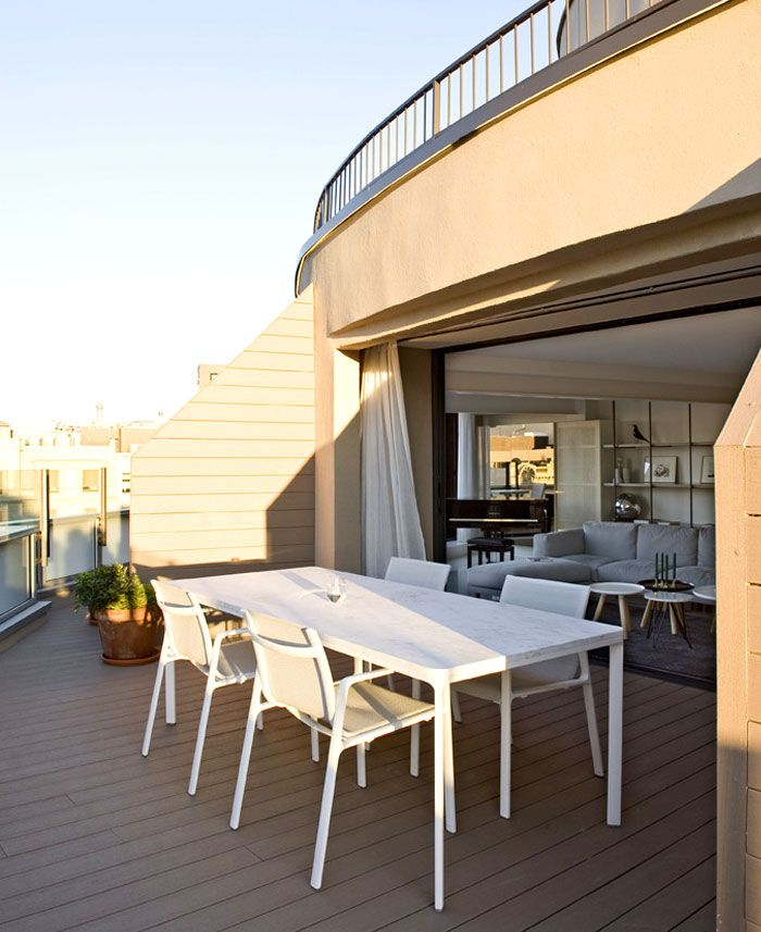 Paseo De Gracia Penthouse In Barcelona Living Space Decor Architecture Outdoor Style