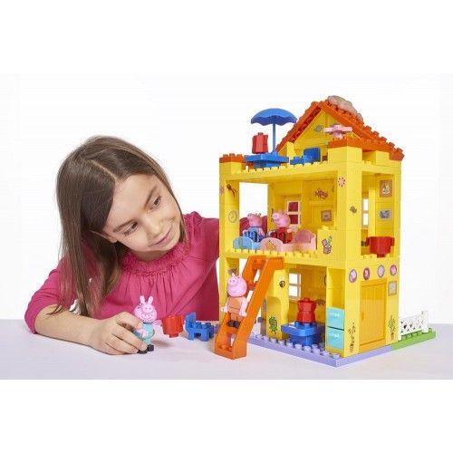 Playbig Bloxx Peppa Wutz Peppas Haus Peppa Wutz Kuche Und Wohnzimmer Grosses Schlafzimmer