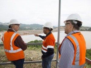 Ministerio de Energía y Minas inspecciona presa El Llagal de Barrick Pueblo Viejo