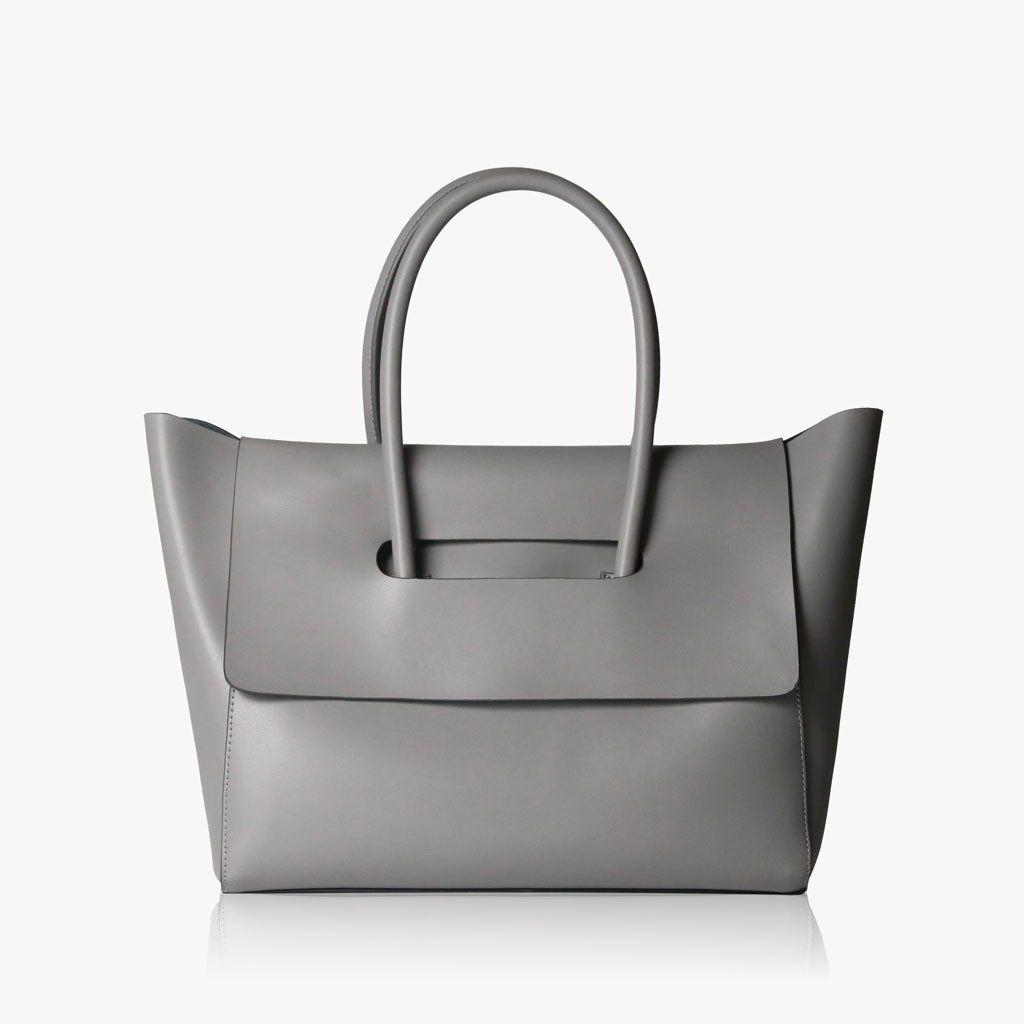 07dcc9185751 Flap Closure Handbag - Grey