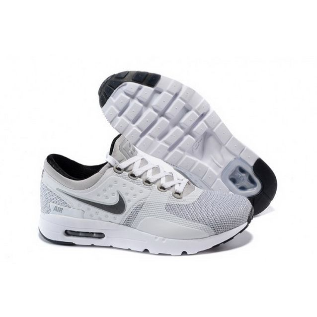 pretty nice 0b58b 8ad1d Mens Nike Air Max Zero Qs Shoes White Light Gray