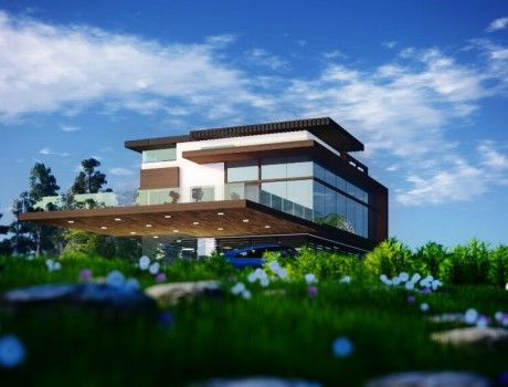 La Maison, a modern residential architecture designed and visualized