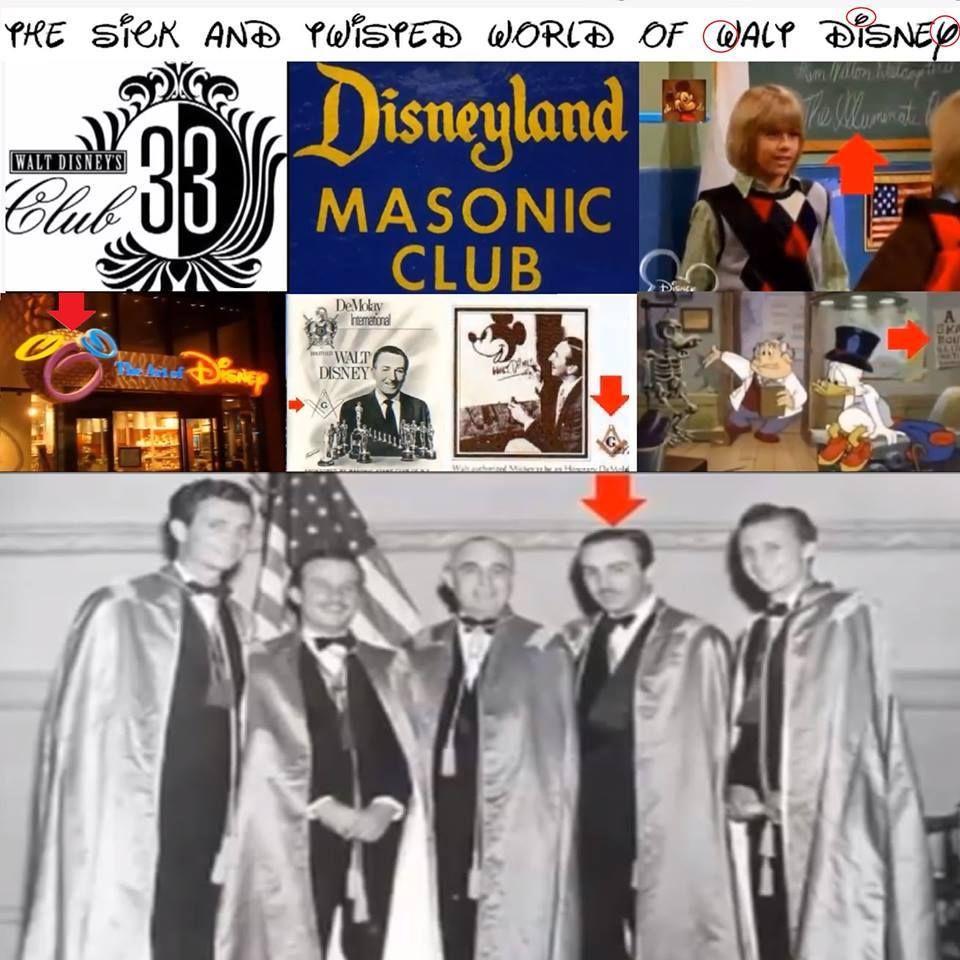 Strange Conspiracies Facebook Zynga And The Freemason: Walt Disney Was A Freemason-Freemasonry Is The Secret