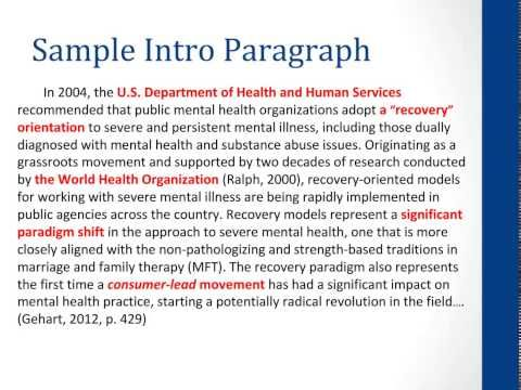 dr diane gehart provides a brief overview for conducting an apa  dr diane gehart provides a brief overview for conducting an apa style review of