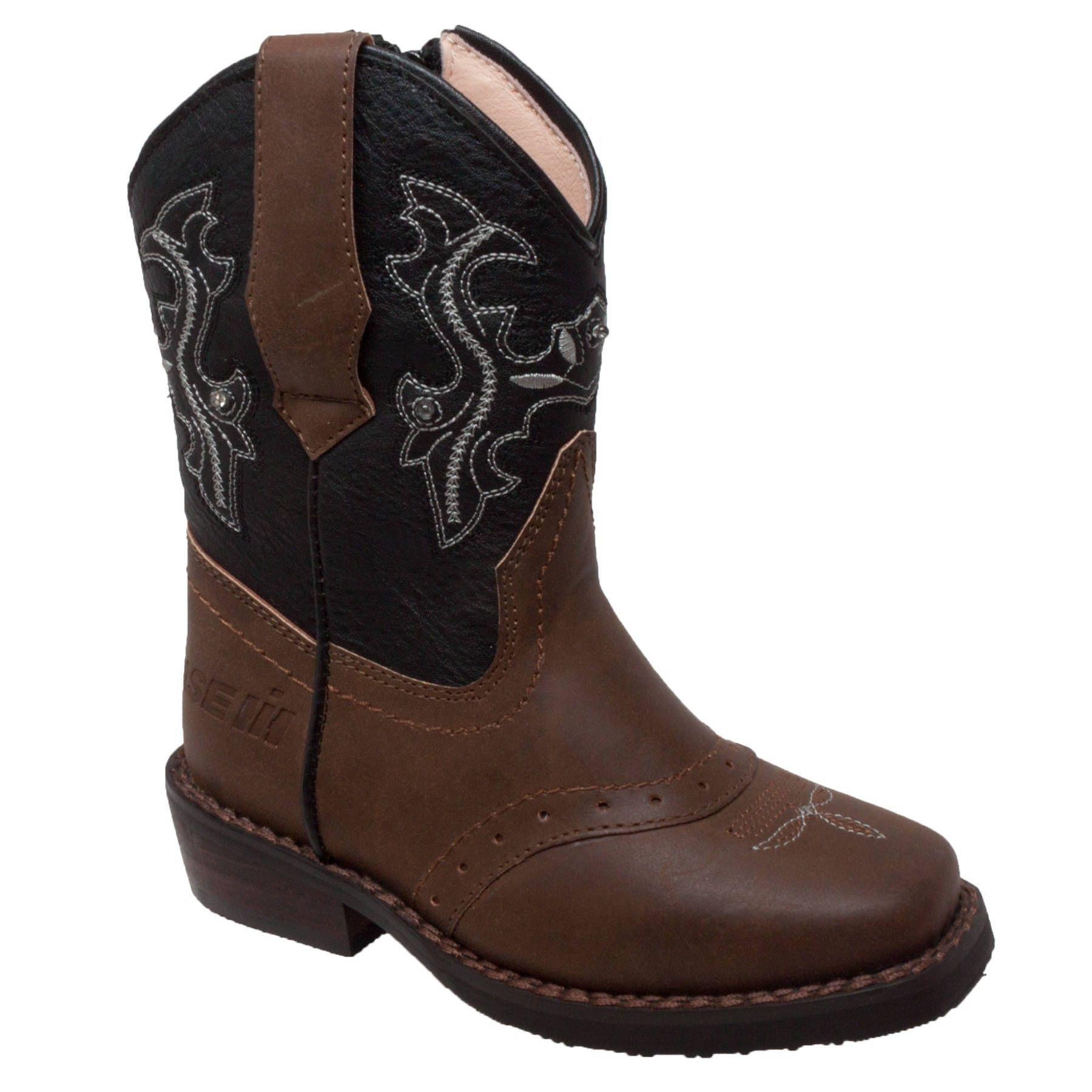 1e57f892525 Case IH Toddler's Western Light Up Boot Brown/Black (10), Toddler ...