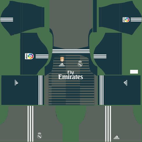 15bae1530 Real Madrid Goalkeeper Third Kit 2018-19 - Dream League Soccer Kits ...