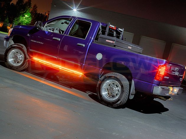 2pc Amber Truck Running Board Led Light Kit With Courtesy Lights Led Light Kits Truck Running Boards Lights