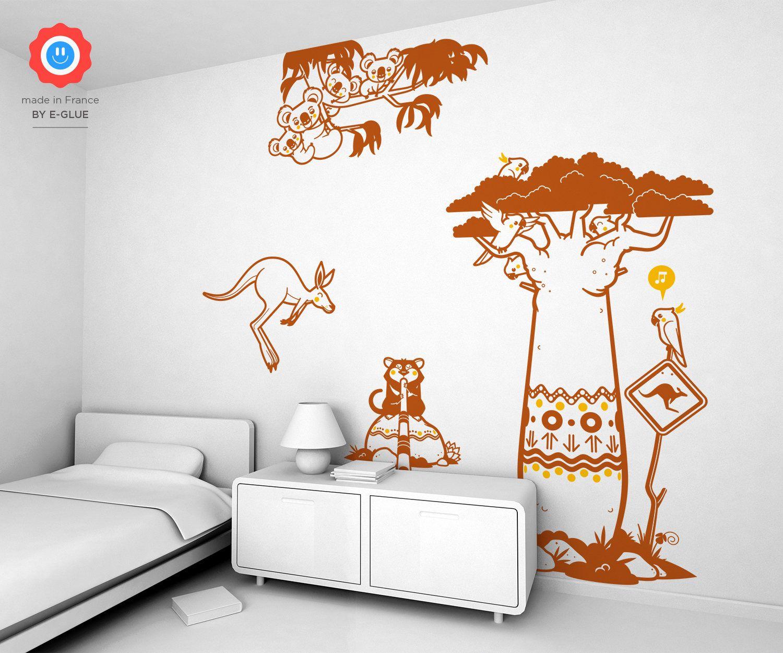 Stickers Muraux Pour Chambre Enfant Ou Bebe Australie Kit De 4 Stickers Enfants Envoi Gratuit Kids Wall Decor Kids Wall Decals Large Wall Stickers
