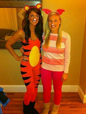 Tiger and piglet! Womenu0027s costumes!  sc 1 st  Pinterest & Tiger and piglet! Womenu0027s costumes! Whereu0027s pooh bear? | Halloween ...