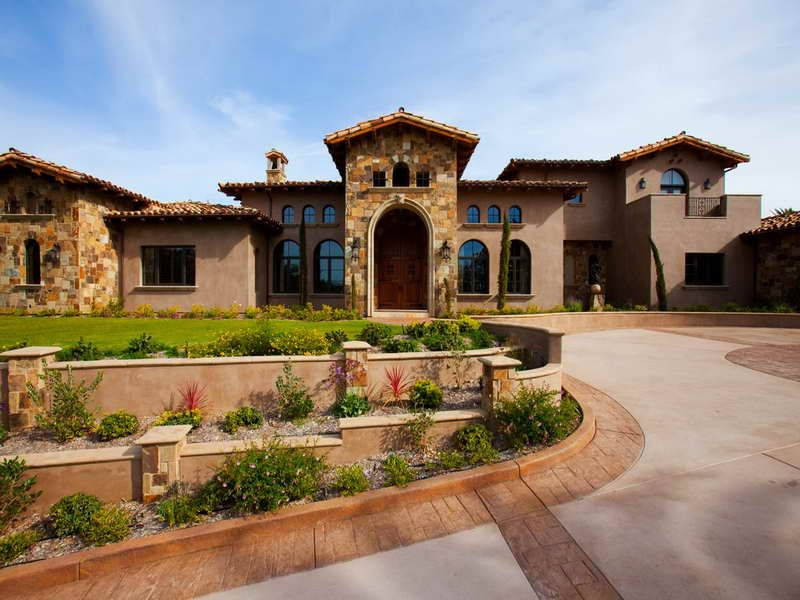 Tuscan style homes designs
