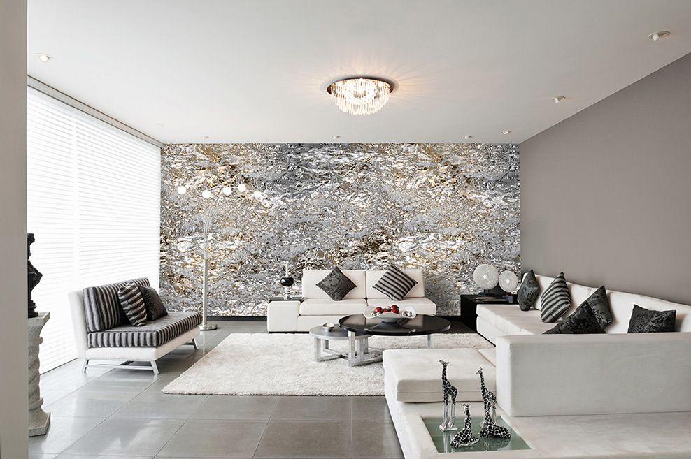 Modernes Schlafzimmer Grau design tapeten in silber grau schwarz - wohnzimmer grau silber