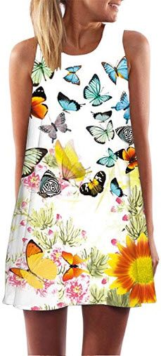 Photo of Dylanlla Tank Tops Dresses for Women,Plus Size Vintage Boho Sleeveless A-line Dr…