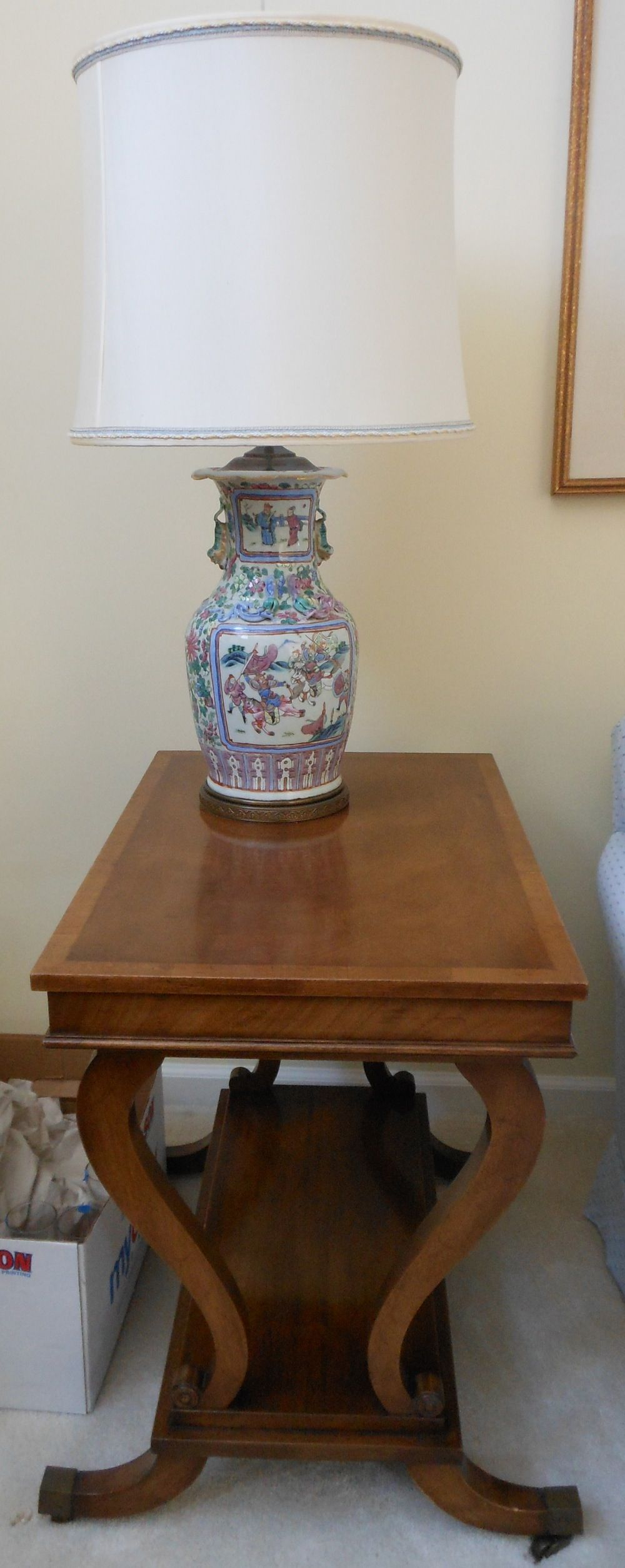 Old Colony Furniture Lyre Shaped End Table