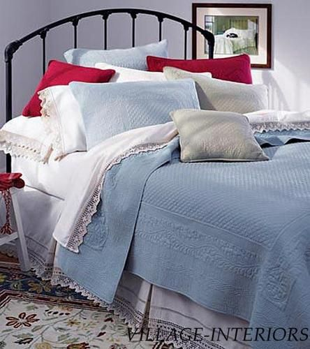 Solid Blue Matelasse King 100 Cotton Quilt King Shams Set   eBay ... : 100 cotton quilts king - Adamdwight.com