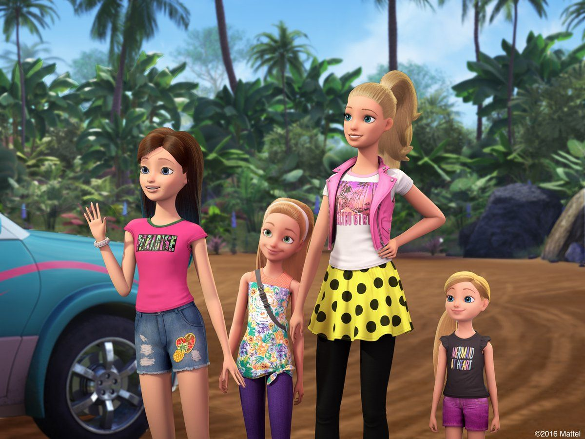 Barbie Returns For A New Adventure See Barbie Her Sisters In A Puppy Chase Available 10 18 Barbie October 2016 Barbie Puppy Barbie Cartoon Barbie Sisters