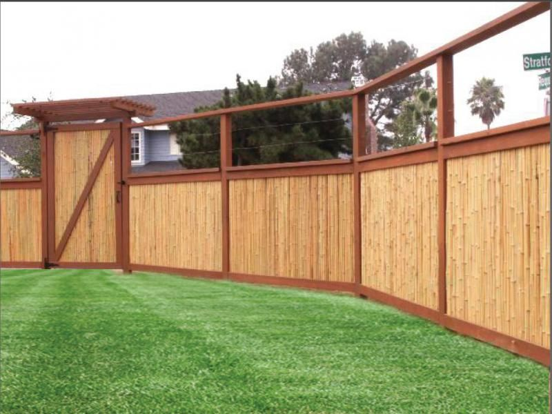 Use bamboo fencing panels to create a