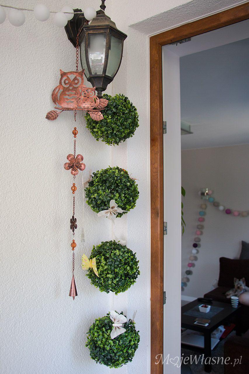 Sowa Dekoracja Ozdoba Kula Bukszpan My Blog Diy Deco