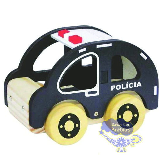 Polícia, Polícia Newart do Brasil, Polícia de Madeira, Polícia de Madeira Newart do Brasil, Carrinho de Madeira, Carrinho Waldorf, Carro
