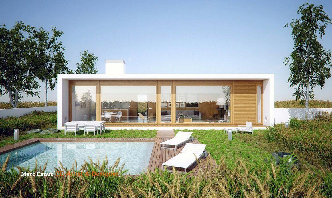 Modern architecture concrete glass contemporary modern