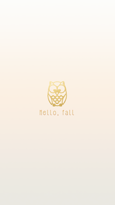Hello Fall Gold Owl Free Autumn Iphone 6s Wallpapers