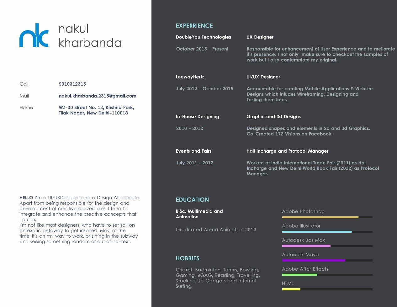 Pin by nakul kharbanda on my resume and portfolio user